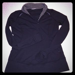 Lululemon Think Fast Black long sleeve Shirt 10